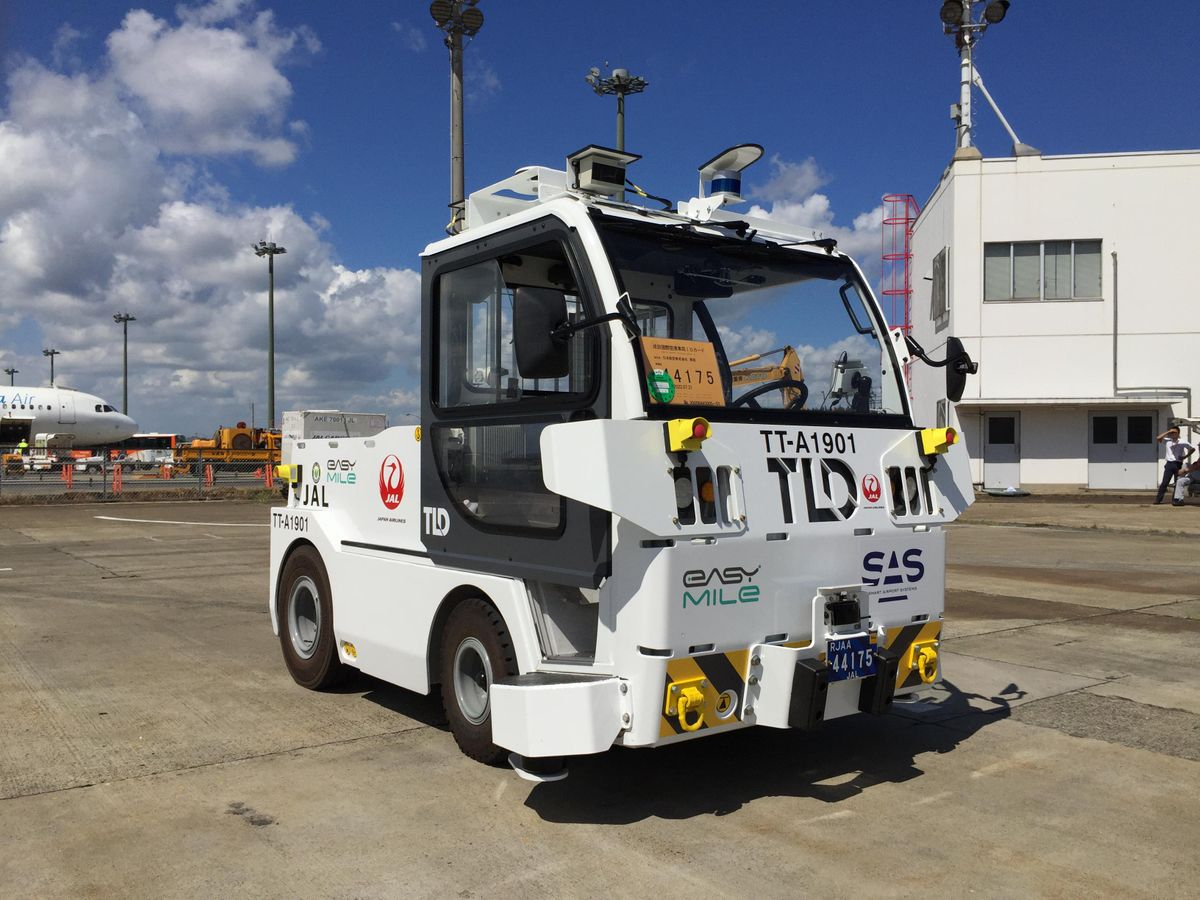 Autonomous Towing Tractors Being Tested at Narita International Airport Corporation (NAA)