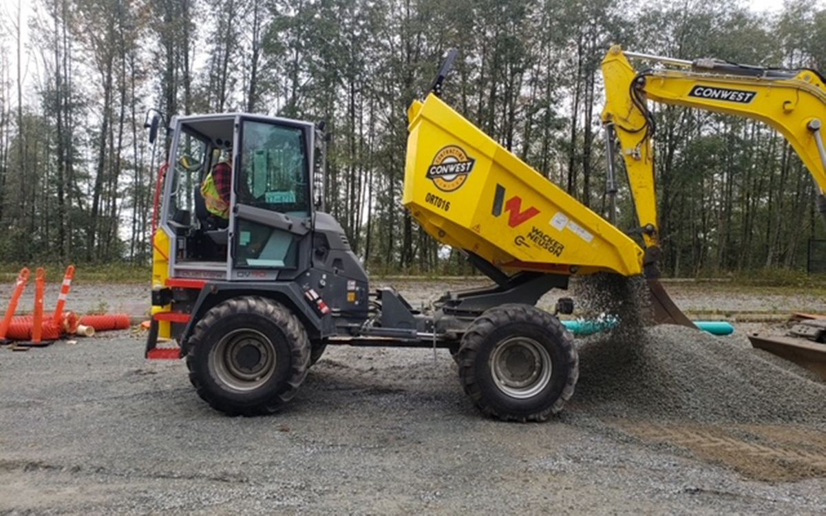 ConWest Contracting Turns To Wacker Neuson's Site Dumper For Roadwork