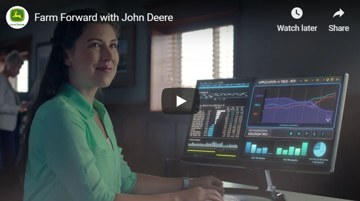 John Deere Creates Futuristic Farm Forward Video