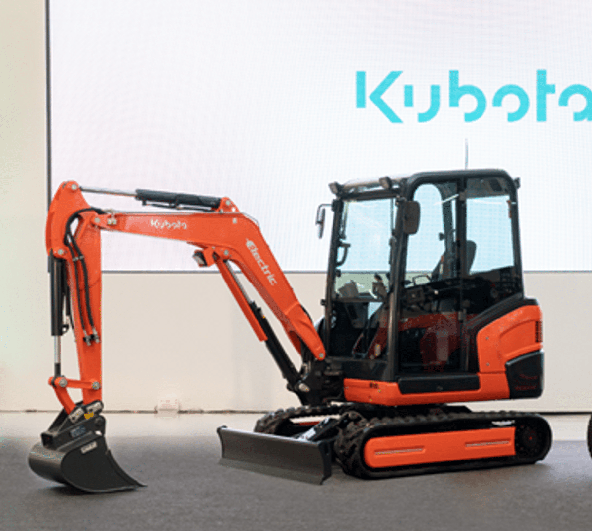 Kubota Reveals Electric Mini Excavator