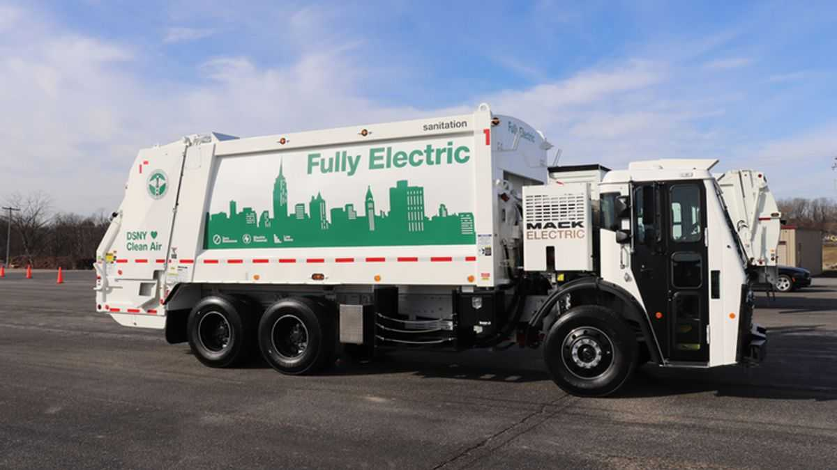 Mack's New Electric Truck To Clear NYC Trash Without Polluting Air