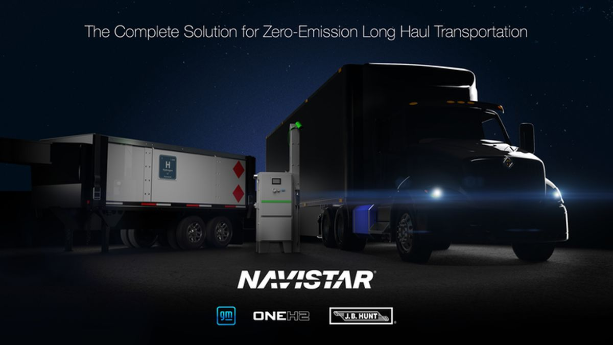 Navistar To Create Hydrogen Truck, Fueling Solution With GM, OneH2